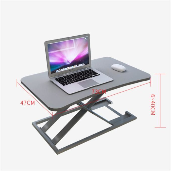 """BAIZE 29""""x18"""" Heigh Adjustable Standing Desk sit to stand Laptop Desk Computer Laptop Stand Fiberboard Steel For Home Office Study"""